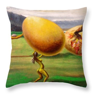 The Egg Of Keith Richards Throw Pillow by Genio GgXpress