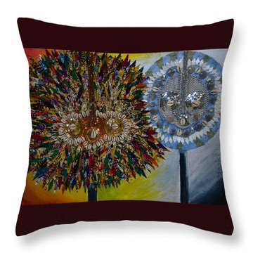 The Egungun Throw Pillow by Apanaki Temitayo M