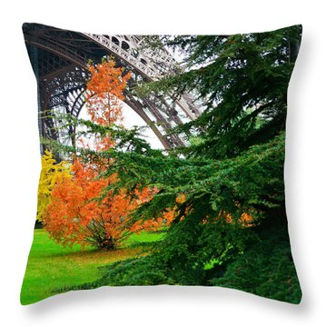 The Eiffel In Fall Throw Pillow