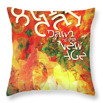 The Eighth Day Throw Pillow by Chuck Mountain