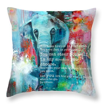 The Elephant And The Butterfly Drseuss Quote Throw Pillow