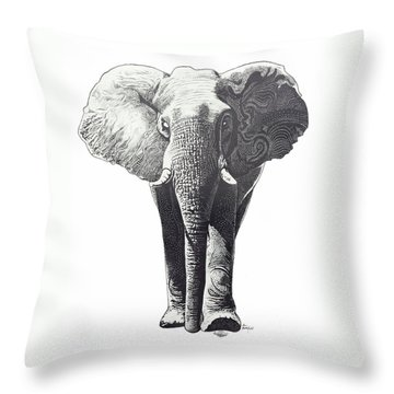 The Elephant Throw Pillow by Kean Butterfield