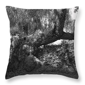The Elephant Tree Throw Pillow