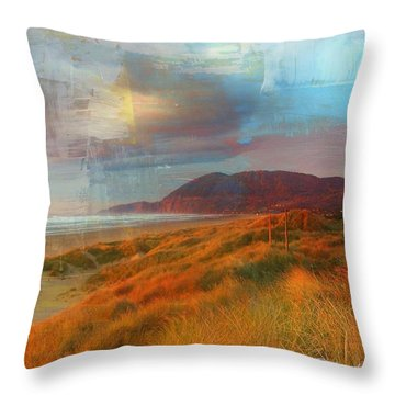 The Elk Trail Throw Pillow