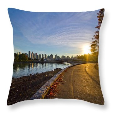 Throw Pillow featuring the photograph The Emerald City by Eti Reid