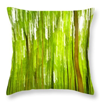 The Emerald Forest Throw Pillow by Bill Gallagher