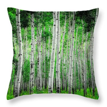 My Own Emerald Forest Throw Pillow