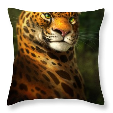 The Emerald Kingdom Throw Pillow by Aaron Blaise