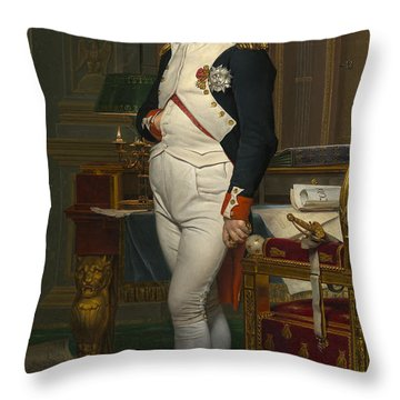 The Emperor Napoleon In His Study Throw Pillow by Mountain Dreams