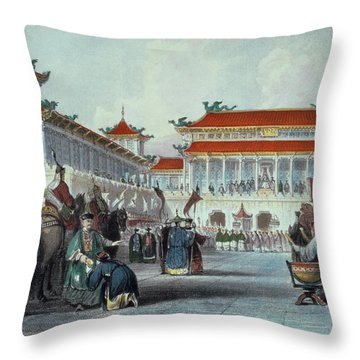 The Emperor Teaon-kwang Reviewing Throw Pillow