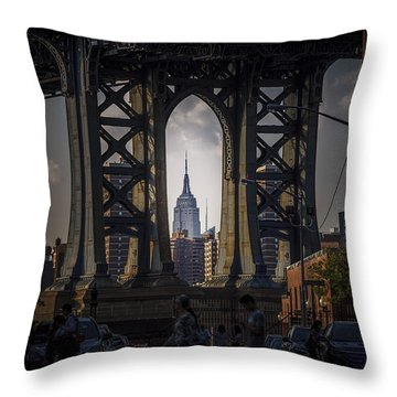 The Empire State  Throw Pillow