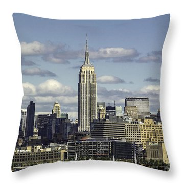 The Empire State Building 2 Throw Pillow