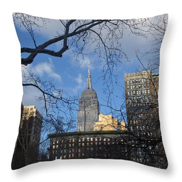 The Empire State Building Throw Pillow