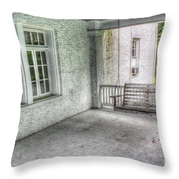 The Empty Porch Swing Throw Pillow