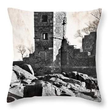 The Empty Tower Throw Pillow by Linsey Williams