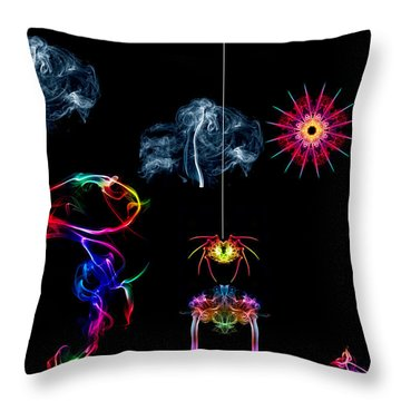 The Enchanted Smoke Spider Throw Pillow by Steve Purnell