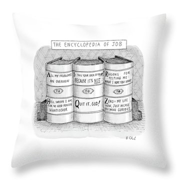 The Encyclopedia Of Job Throw Pillow