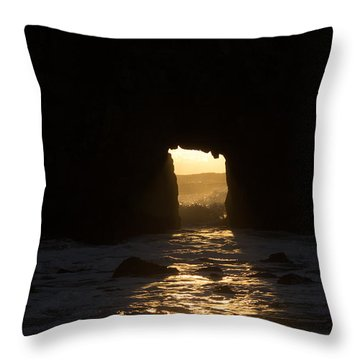 The End Of A Day Throw Pillow by Suzanne Luft