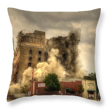 The End Of An Era Throw Pillow by David Morefield