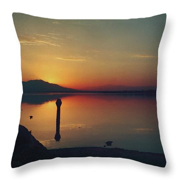 The End Of Another Day Without You Throw Pillow by Laurie Search