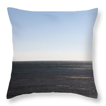 The End Of Long Island Throw Pillow by John Telfer