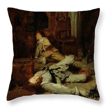 The End Of The Game Of Cards Throw Pillow