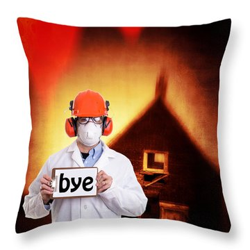 The End Of The World Throw Pillow by Edward Fielding