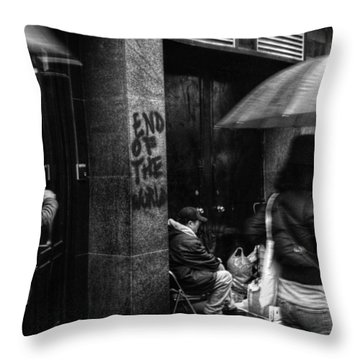 The End Of The World Throw Pillow by Linda Unger