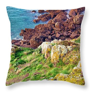 The End Throw Pillow by Olivier Le Queinec
