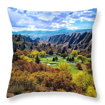 The Ending Of Time Throw Pillow