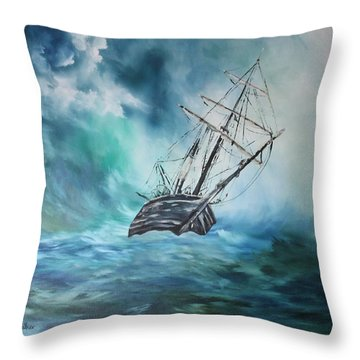 The Endurance At Sea Throw Pillow