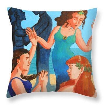 The Engagement Dance Throw Pillow by Whitney Morton
