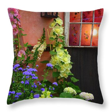 The English Cottage Window Throw Pillow by Dora Sofia Caputo Photographic Art and Design