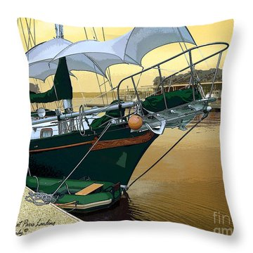 The Enola At Paris Landing Throw Pillow