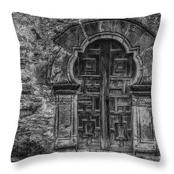 The Mission Door Throw Pillow
