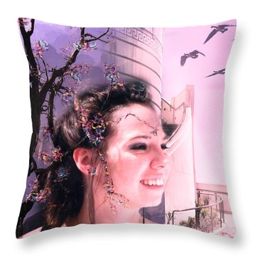 The Essence Of Eliza Throw Pillow