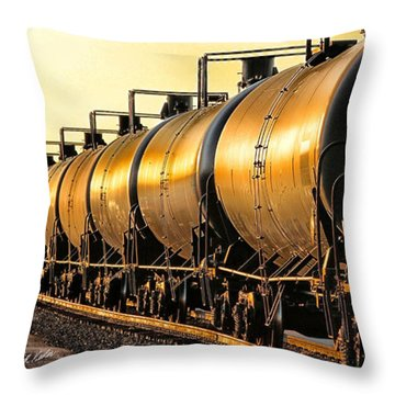 Throw Pillow featuring the photograph The Ethanol Train by Bill Kesler