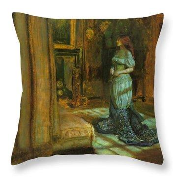 The Eve Of St Agnes Throw Pillow by John Everett Millais