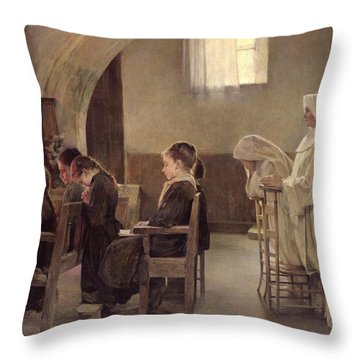 The Eve Of The First Communion Throw Pillow