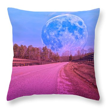 The Evening Begins Throw Pillow by Betsy Knapp