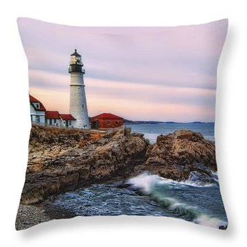 The Evening Lo How Bright Throw Pillow by Richard Bean
