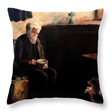 The Evening Meal Throw Pillow