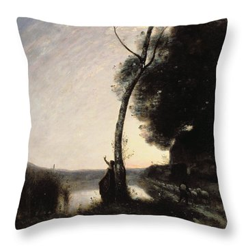 The Evening Star Throw Pillow by Jean Baptiste Camille Corot