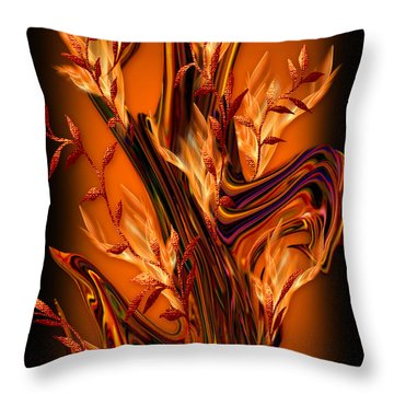 Throw Pillow featuring the digital art The Everlasting  Fruitful Tree - Optimistic Art By Giada Rossi by Giada Rossi