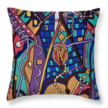 The Exam Throw Pillow by Barbara St Jean