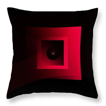 Throw Pillow featuring the painting The Exhibit 2015 by Andrew Penman
