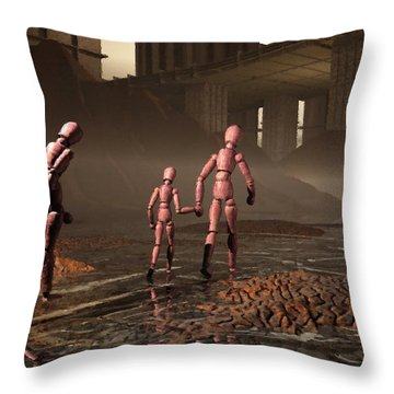 Throw Pillow featuring the digital art The Exiles Sojourn by John Alexander