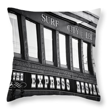 The Express Restaurant Black And White Throw Pillow