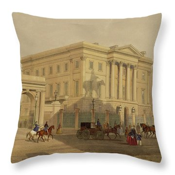 The Exterior Of Apsley House, 1853 Throw Pillow