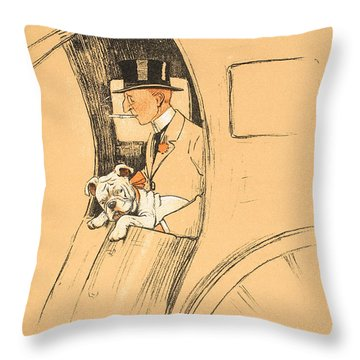 The Extra Passenger Throw Pillow by Cecil Charles Windsor Aldin